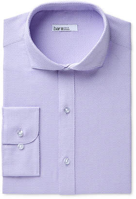 Bar III Men's Slim-Fit Stretch Easy-Care Diamond Line Dress Shirt, Created for Macy's