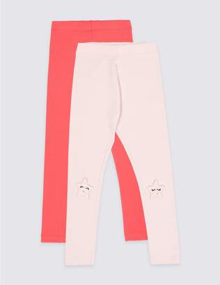 Marks and Spencer 2 Pack Leggings with Stretch (3 Months - 7 Years)