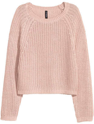 H&M Rib-knit Sweater - Pink