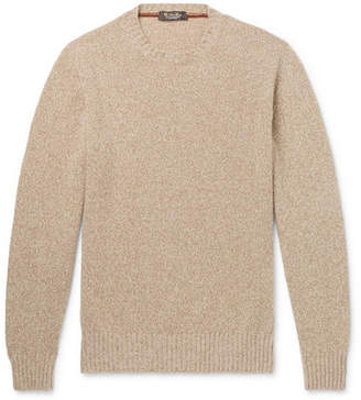 Loro Piana Melange Baby Cashmere Sweater - Men - Beige