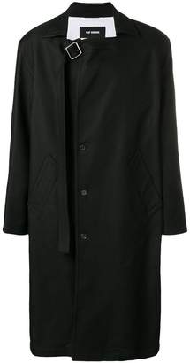 Raf Simons Coat With Buckle Closure