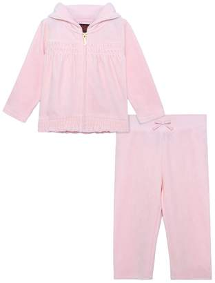 Juicy Couture Smocked Velour Starlight Cameo Track Set for Baby