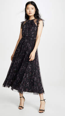 Jill Stuart Pleated Floral Dress