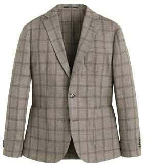 MANGO Slim-fit textured linen blazer