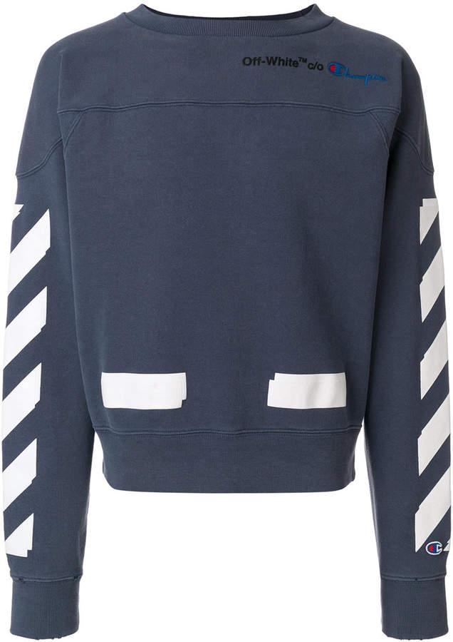 Off-White Off White x Champion crew neck sweatshirt