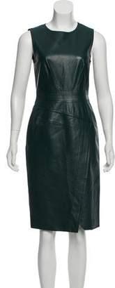 J. Mendel Leather Midi Dress