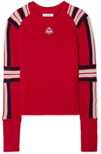 Isabel Marant Étoile - Hayward Striped Wool Sweater - Red