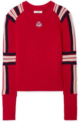 Etoile Isabel Marant Hayward Striped Wool Sweater - Red