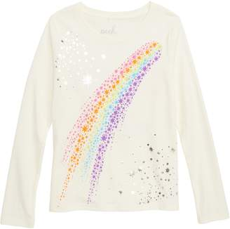 Peek Aren't You Curious Cosmic Love Rainbow Graphic Tee