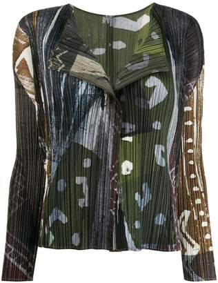 Pleats Please Issey Miyake abstract micro-pleated blouse