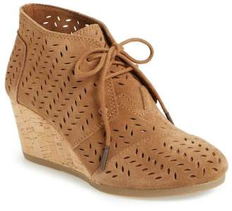 Toms Perforated Chukka Wedge Bootie
