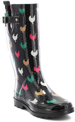 Unique Evercreatures Women39s Rubber Green Rain Boots Lovely Chicken Wellies
