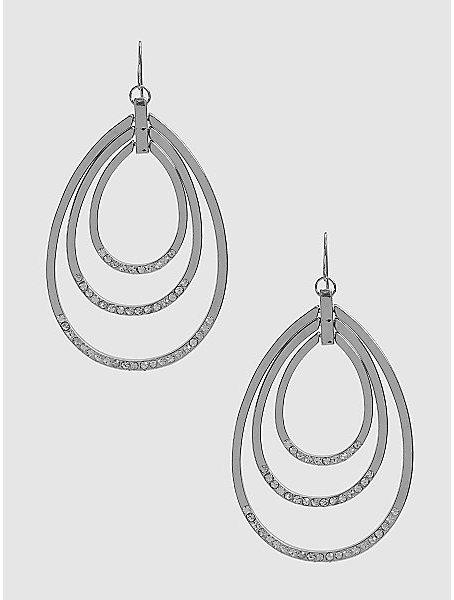 Rhinestone Multi Hoop Earrings