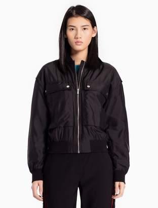 Calvin Klein nylon silk padded bomber jacket