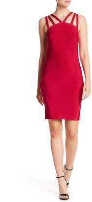 Bebe Multi-Strap Bandage Dress