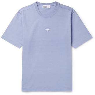 Stone Island Logo-Embroidered Cotton-Jersey T-Shirt