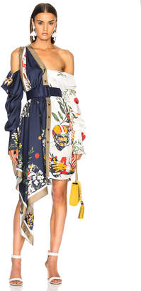 Monse Football Floral Split Print Dress