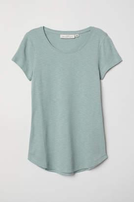 H&M Short-sleeved Jersey Top - Green
