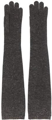 Brunello Cucinelli metallic thread gloves