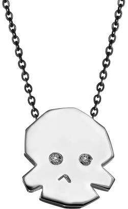 Delphine Leymarie Mini Skull Diamond Necklace