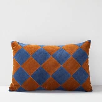 west elm Christina Lundsteen Check Pillow