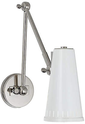 Visual Comfort & Co. Antonio Two-Arm Adjustable Sconce - Nickel/White