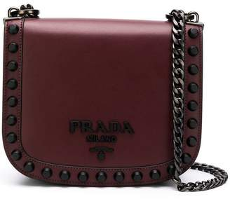 Prada Pioniere studs shoulder bag
