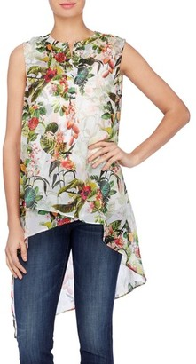 Women's Catherine Catherine Malandrino Livy Print High/low Tunic Blouse