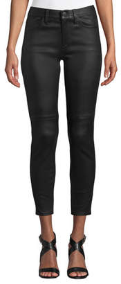 Current/Elliott The Stiletto High-Rise Leather Skinny Jeans