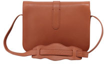 Balenciaga Tube-Clasp Crossbody Bag, Rust Brown