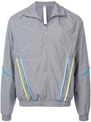 Cottweiler stripped pockets wind breaker