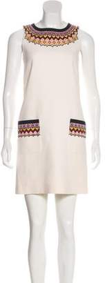 Andrew Gn Embroidered Wool Dress multicolor Embroidered Wool Dress