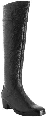 Balenciaga black pebbled leather tall boots