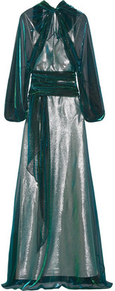 Maison Margiela - Metallic Chiffon Gown - Green $3,760 thestylecure.com