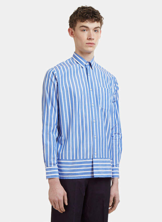 Striped Summer Fit Shirt in Blue