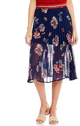 Soulmates Pleated Floral Skirt