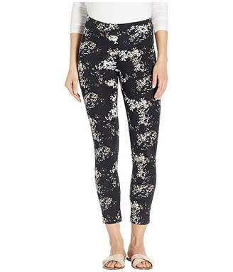 Hue Watercolor Floral Cotton Capri Leggings
