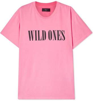 Amiri Wild Ones Printed Neon Cotton-jersey T-shirt - Bright pink