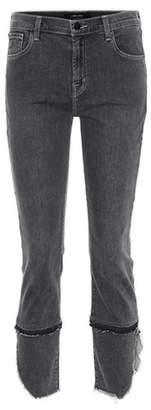 J Brand Ruby frayed cuff skinny jeans