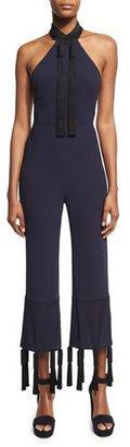 Galvan Tasseled Sleeveless Cropped Jumpsuit $2,140 thestylecure.com