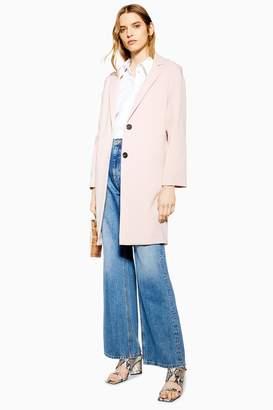 Topshop Womens Crepe Coat - Blush