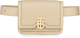 Burberry TB Monogram Quilted Leather Belt Bag