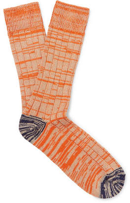 The Workers Club Mélange Cotton And Nylon-Blend Socks