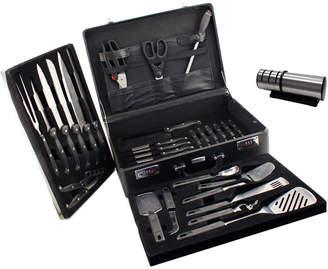 Berghoff Geminis 32Pc Cutlery Set/ Case & Diamond Sharpener