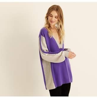 7a789983ec Amanda Wakeley Ultra Violet Pebble V-Neck Cashmere Jumper
