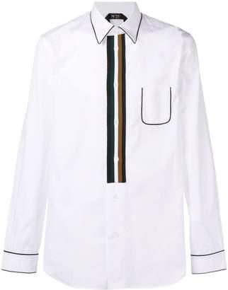 No.21 contour striped shirt