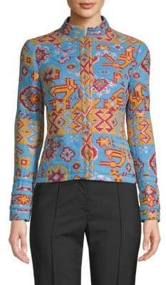Valentino Embroidered Geometric Jacket