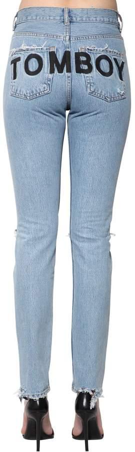 Tomboy Destroyed Cotton Denim Jeans