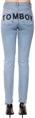 Filles a papa Tomboy Destroyed Cotton Denim Jeans