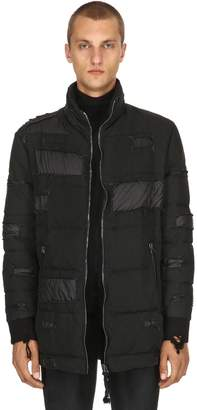 Ribbed Goose Down Bomber Jacket